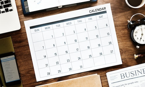 Calendar default event